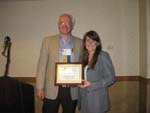 "2009 KomedyPlast / ASCFS Research Grant Award Recipient Russell Reid, M.D., Ph.D. for the submitted research grant entitled: ""Osteoimmunology and Suture Biology""; Dr. Reid's Research Fellow, Dr. Lisa Spiguel, was present to accept the award."